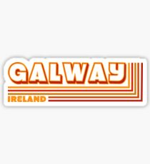 Retro Galway Ireland Traveler  Sticker