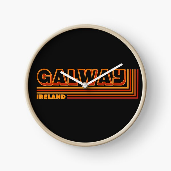 Retro Galway Ireland Traveler  Clock