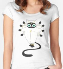 Funny Cat T-Shirts made with Comfortable Cotton for Everyday Use Women's Fitted Scoop T-Shirt