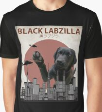 Black Labzilla - Giant Labrador Retriever Lab Dog Monster Graphic T-Shirt