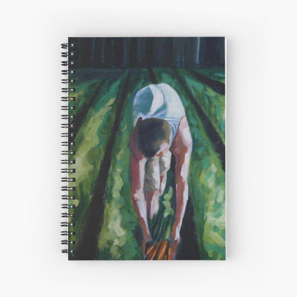 CAMERON AND CARROTS Spiral Notebook