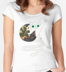 Cat T Shirt for Men and women Women's Fitted Scoop T-Shirt