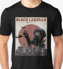 Black Labzilla - Giant Labrador Retriever Lab Dog Monster Unisex T-Shirt