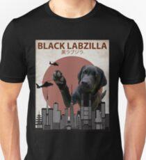 Schwarzes Labzilla - Labrador-Labrador-Labrador-Monster Slim Fit T-Shirt