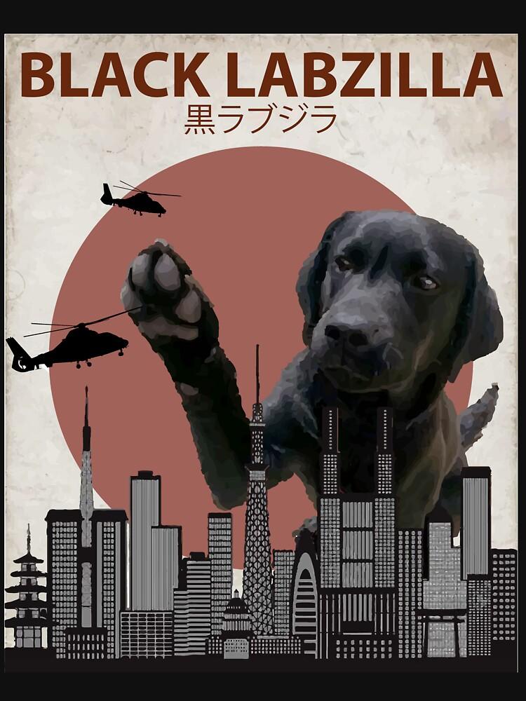Black Labzilla - Giant Labrador Retriever Lab Dog Monster by Animalzilla