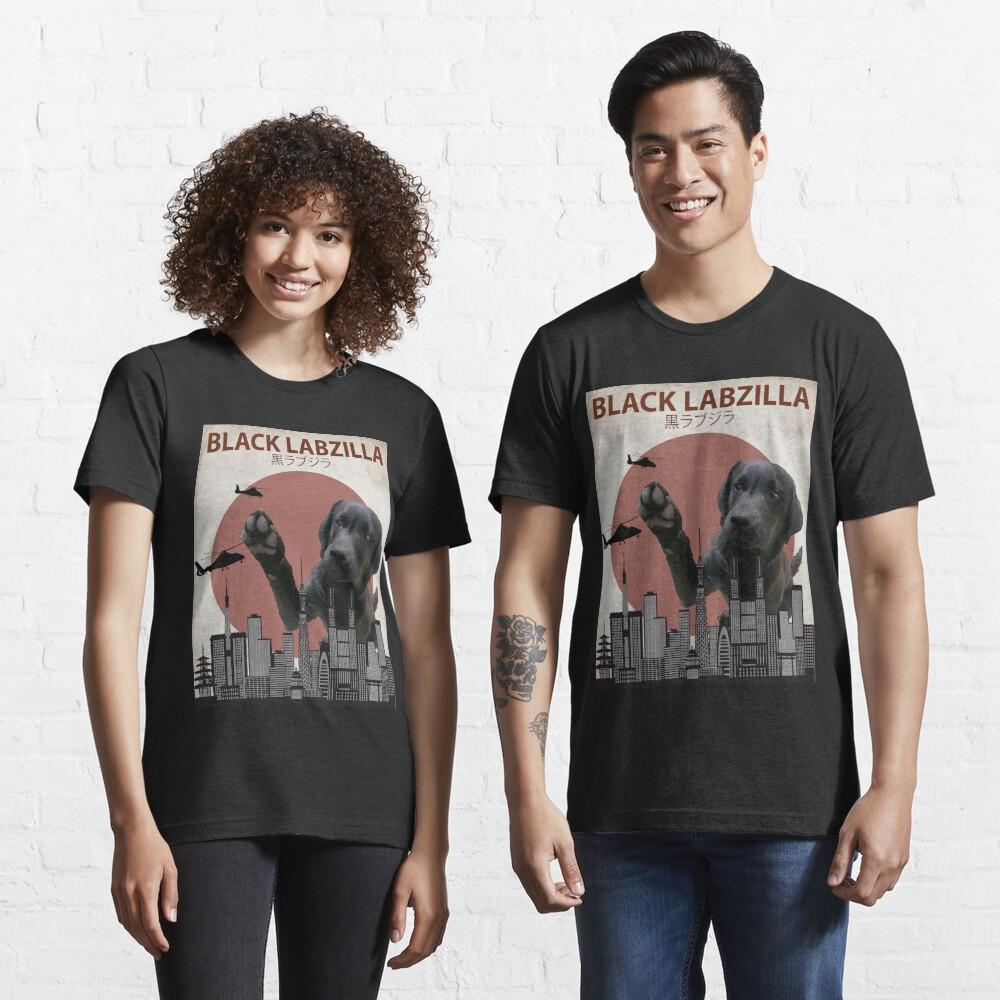 Black Labzilla - Giant Labrador Retriever Lab Dog Monster Essential T-Shirt