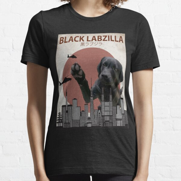 Black Labzilla - Giant Labrador Retriever Lab Dog Monster Essential T-Shirt