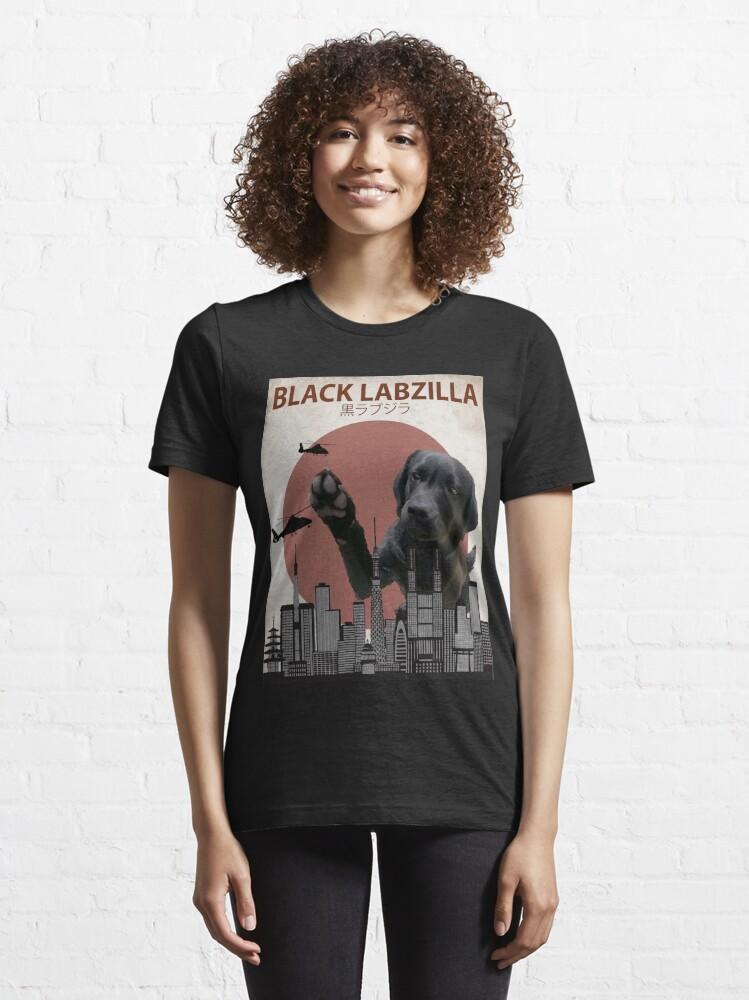 Alternate view of Black Labzilla - Giant Labrador Retriever Lab Dog Monster Essential T-Shirt