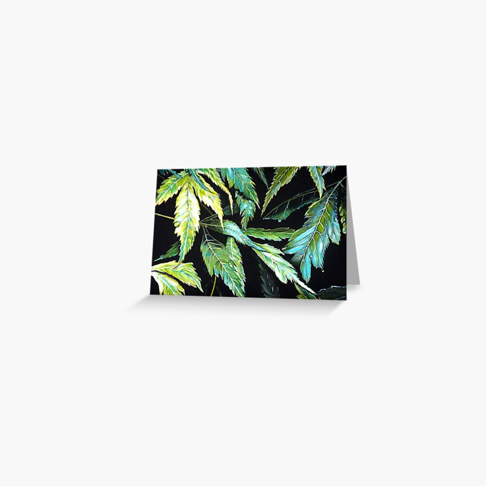 Maple Leaves - After the Rain  Greeting Card