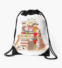 The Love of Books Drawstring Bag