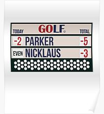 Expert Golfer Parker Beats Nicklaus - Golf Tournament Winner Poster