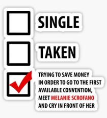 Single, Taken... Wynonna Earp Edition #3 Sticker