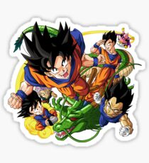 goku and friends Sticker