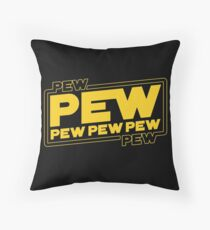 Star Wars Pew Pew! Throw Pillow