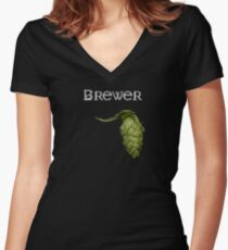 Brewer Women's Fitted V-Neck T-Shirt