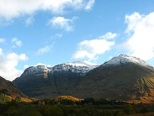 Snow tipped peaks by AA Fer