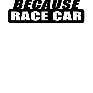 Because Racecar - Whte by brpbi