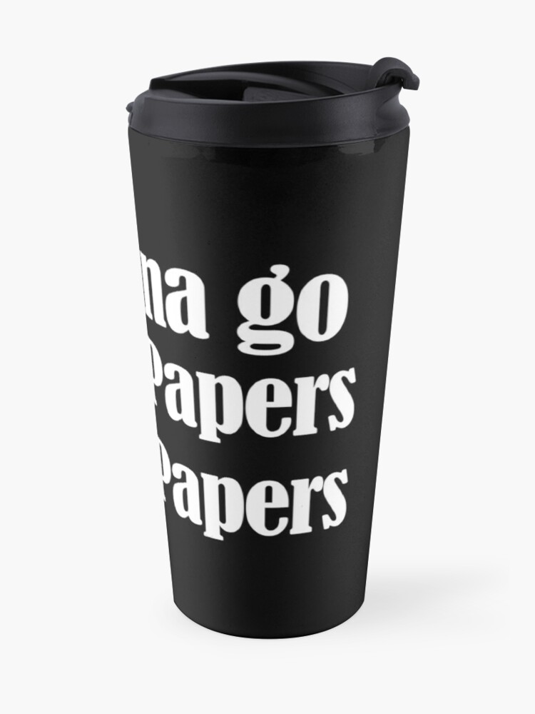 Alternate view of get the papers get the papers Travel Mug