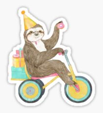 Birthday Sloth Sticker