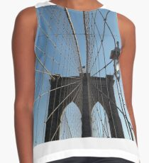 Classic Architecture, Brooklyn Bridge, New York City Contrast Tank