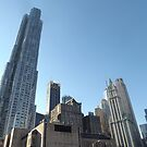Classic and Modern Architecture, Lower Manhattan, New York City by lenspiro