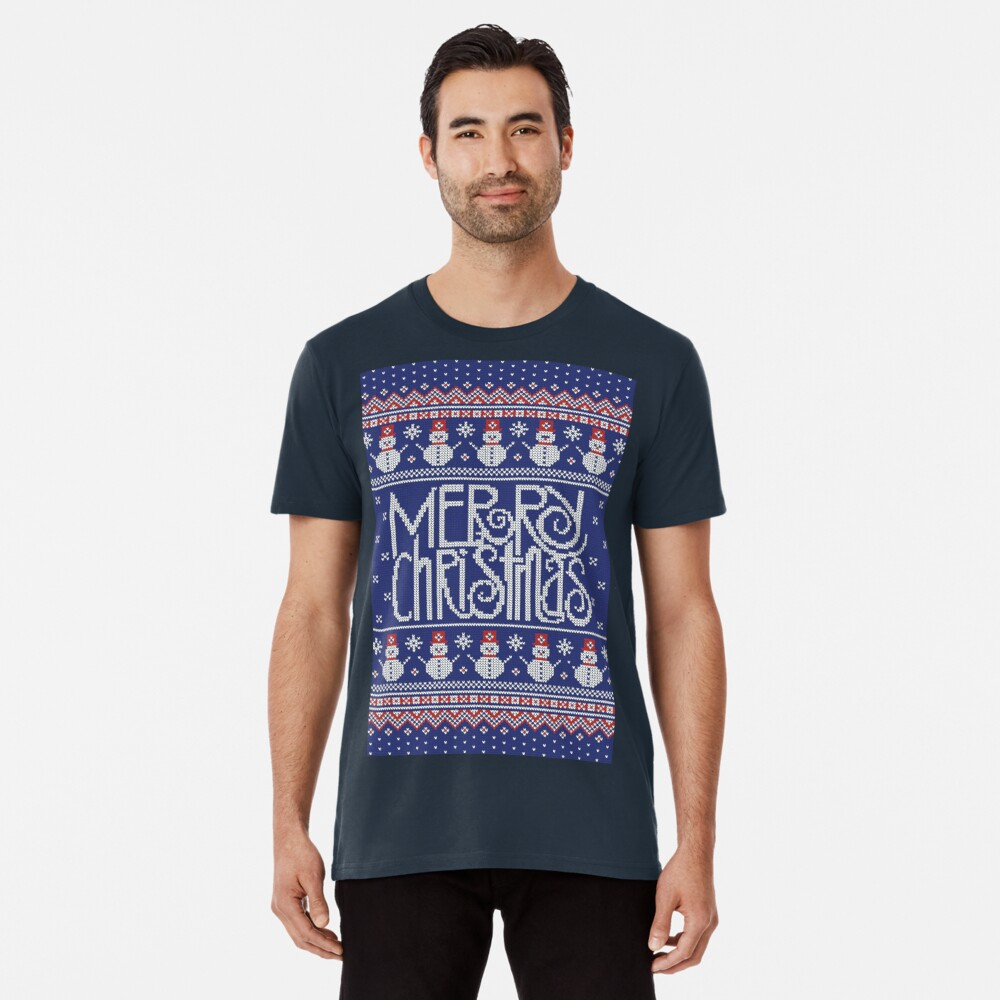 Merry Christmas from Snowman Camiseta premium