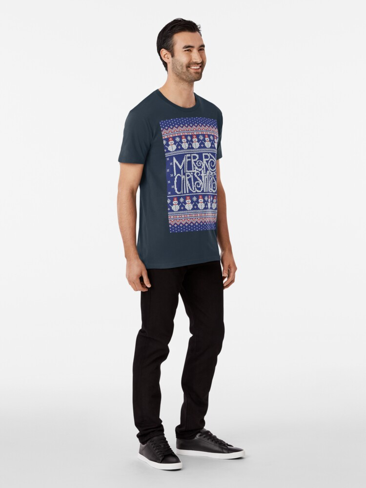 Vista alternativa de Camiseta premium Merry Christmas from Snowman