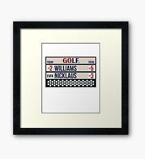 Expert Golfer Williams Beats Nicklaus - Golf Tournament Winner Framed Print