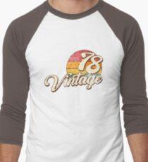 Vintage 1978  Men's Baseball ¾ T-Shirt
