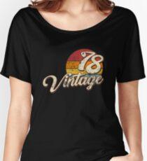 Camiseta ancha para mujer Vintage 1978