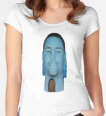 Klay Thompson Squidward House Women's Fitted Scoop T-Shirt