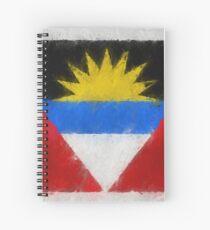 Antigua And Barbuda Flag Reworked No. 66, Series 4 Spiralblock