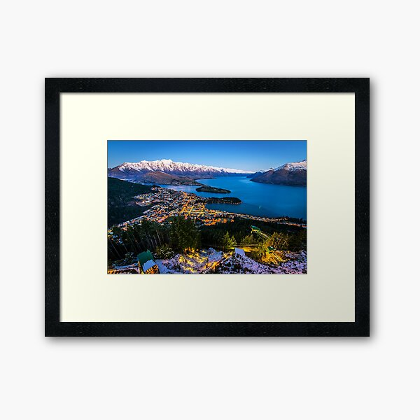 Queenstown New Zealand Framed Art Print