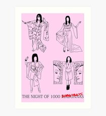 The Night of 1000 Kimonos Art Print