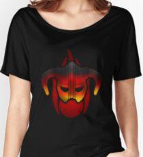 Fire Metal Helmet Women's Relaxed Fit T-Shirt