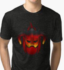 Fire Metal Helmet Tri-blend T-Shirt