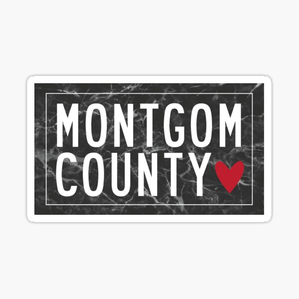 MONTGOMERY COUNTY Sticker