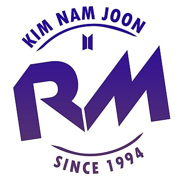 BTS RM badge on light background by shopnojams