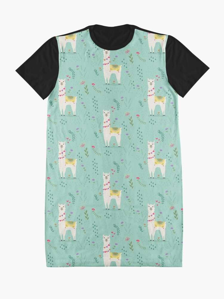 Alternate view of Festive Llama Graphic T-Shirt Dress