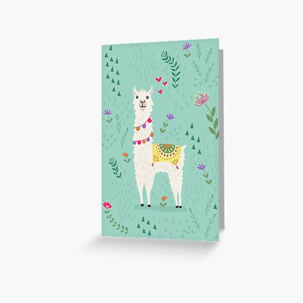 Festive Llama Greeting Card