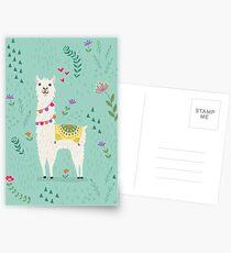 Festliches Lama Postkarten