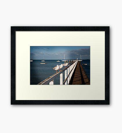 Sorrento Pier Framed Print