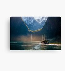 Journey To Middle Earth Canvas Print