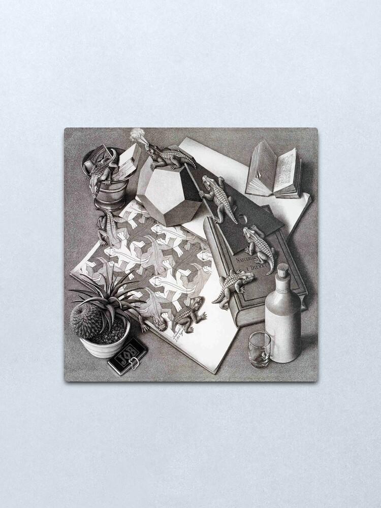 Alternate view of Escher Metal Print