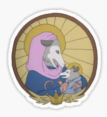 Holy Mother Possum and Child Sticker