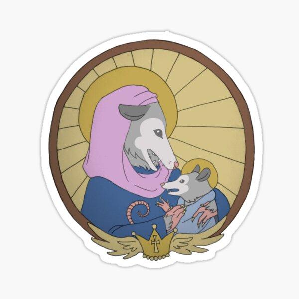 Holy Mother Possum and Child Sticker