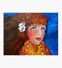 Hula - Sweet Blue Eyed Leilani Photographic Print