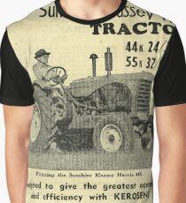 The 1940s Sunshine Massey Harris Tractor  Graphic T-Shirt