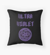 Pantone Colour of the Year 2018 ULTRA VIOLET  Graphic Typography Throw Pillow