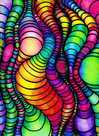 Quot Colorful Tube Worms Op Art Quot Poster By 1redbublppasswo